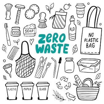 Элементы каракули жизни без отходов