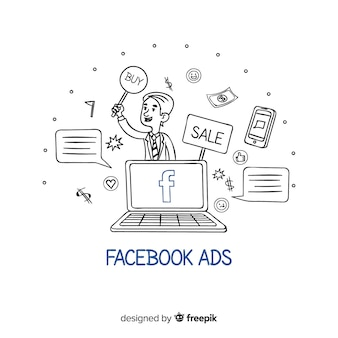 Doodle фон для рекламы в facebook