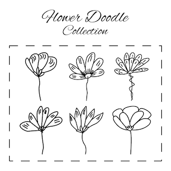 Doodle floral flower pattern and background