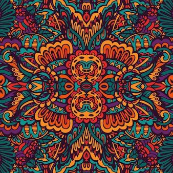 낙서 꽃 페이즐리 메달 패턴.