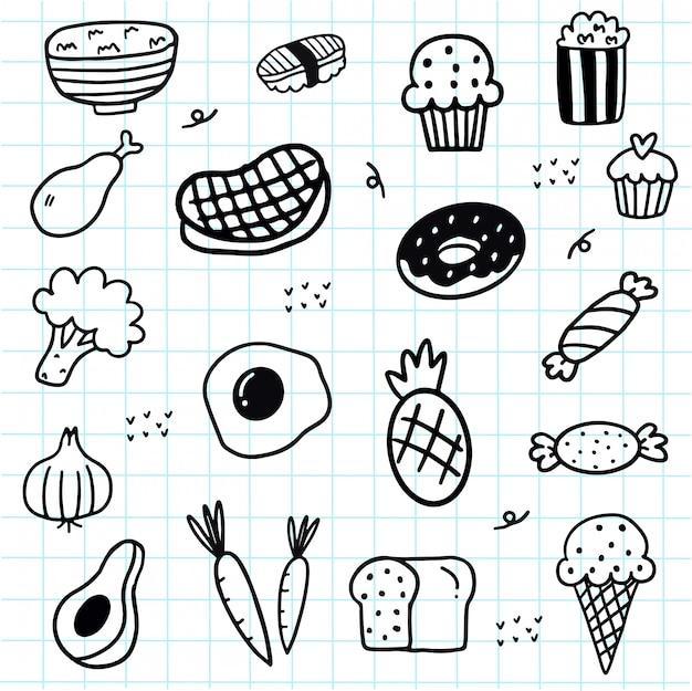 Doodle food elements