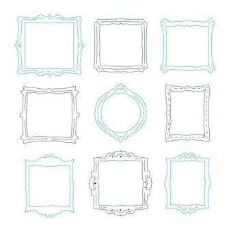 Doodle frame collezione disegnata a mano