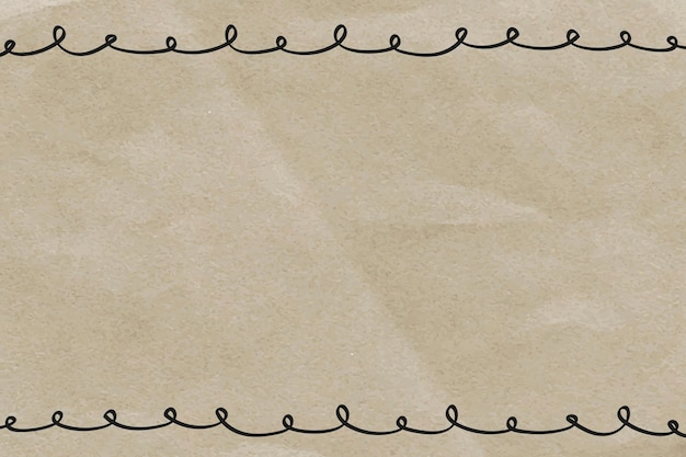 Cornice doodle su sfondo di carta stropicciata