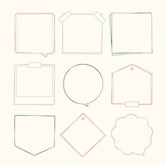 落書きフレームデコレーションパック手描き