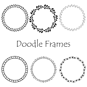 Doodle frame. hand drawn element set. retro doodle frame . hand drawn line art illustration. vintage ornament collection. doodle frame set. hand drawn sketch. black vintage ornament set.