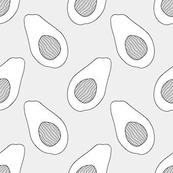낙서 과일 반복 패턴 배경입니다. 원활한 섬유 배경 템플릿