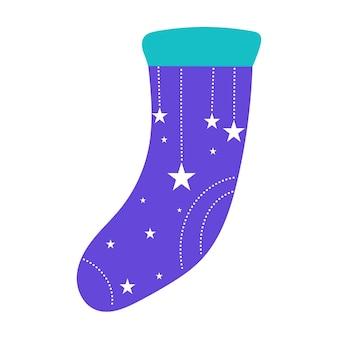 落書き面白い靴下アイコンエレネット。赤ちゃんのtシャツのプリントや保育園のポスターのデザインのための漫画の靴下。