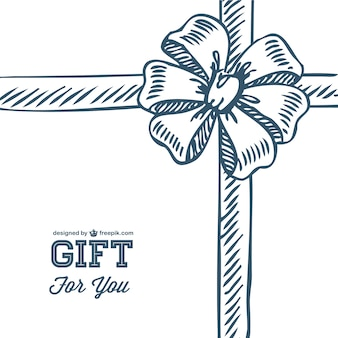 Doodle gift bow template