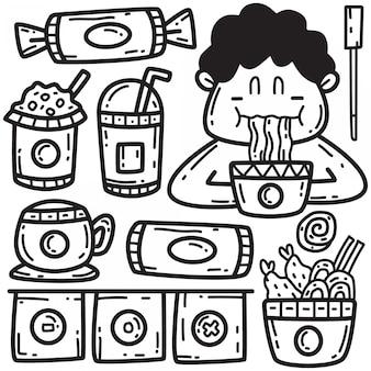 落書き手描き麺