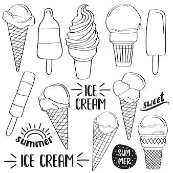 Doodle ice cream collection