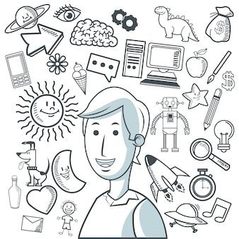 Дизайн иконок doodle