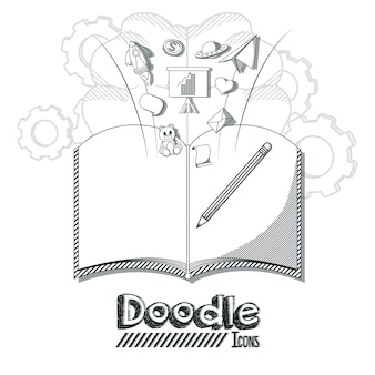 Doodle icons cartoons