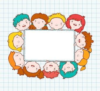 Doodle kids пустая рамка