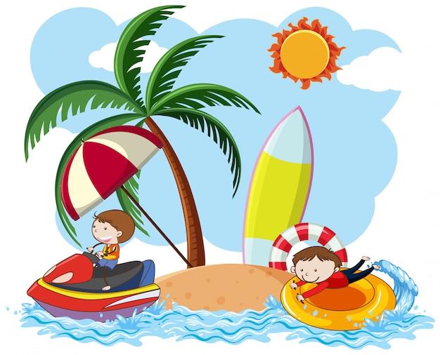 夏休みのdoodle kids