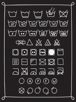 Doodle laundry symbols