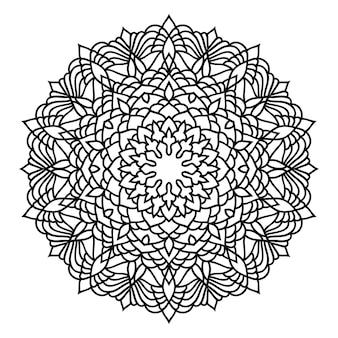 낙서 흑백 레이스 만다라 패턴