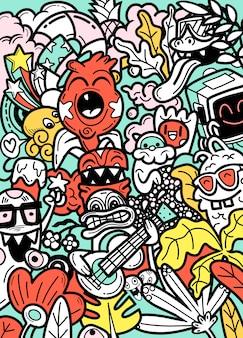 Каракули монстров рисованной