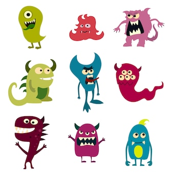 Doodle monsters set