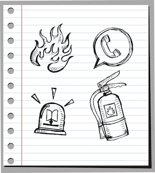 Иконка doodle of fire