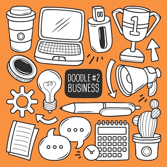 Doodle office supplies set