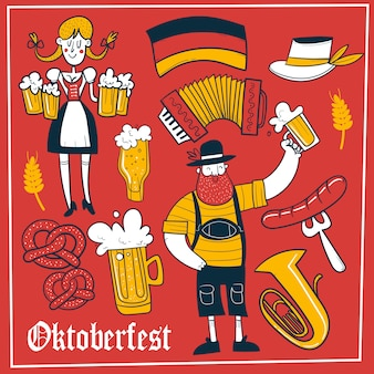 Doodle oktoberfest background
