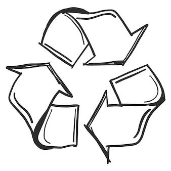 Doodle recycle symbol