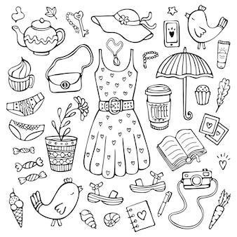 Doodle набор аксессуаров и одежды для женского образа жизни на теплое время года