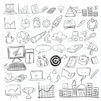 Бизнес doodle set