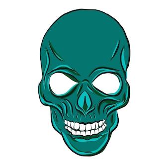 Doodle skull head vector