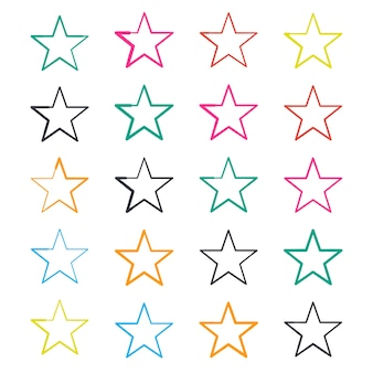Doodle star collection
