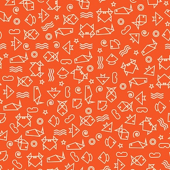 Doodle style seamless pattern