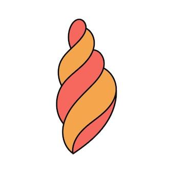 낙서 스타일의 조개. 가리비, 굴. 흰색 배경에 고립 된 간단한 그림입니다. 여름 아이콘