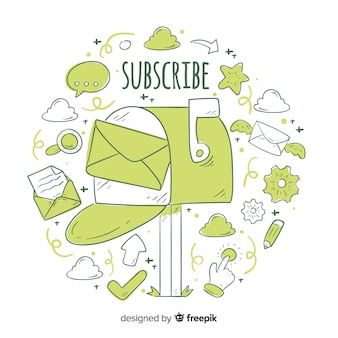 Doodle subscribe concept