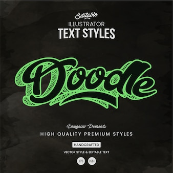 Doodle text style