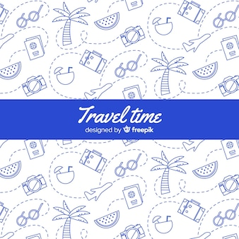 Doodle travel background