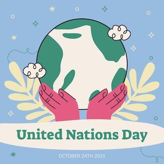 Doodle post instagram per il giorno delle nazioni unite