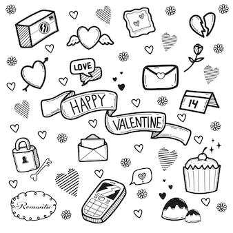 落書きバレンタインデー要素パック