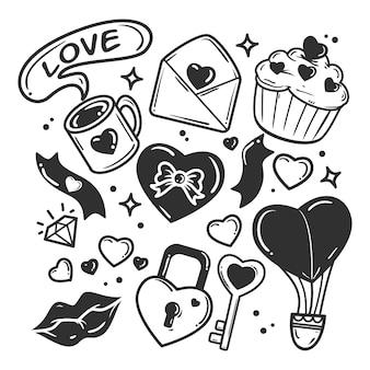 落書きバレンタインデー要素コレクション