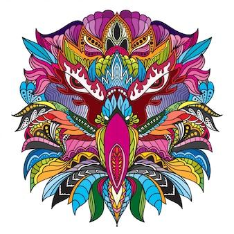 Ручной обращается doodle zentangle головы орла иллюстрация-вектор.