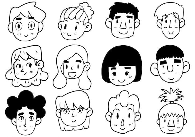 Рисованной doodle милый смешной мультфильм