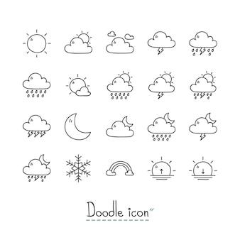 Иконки погоды doodle