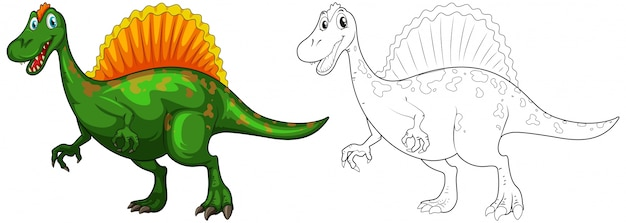 Животное doodle для динозавров