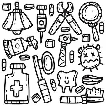 Забавный дантист doodle