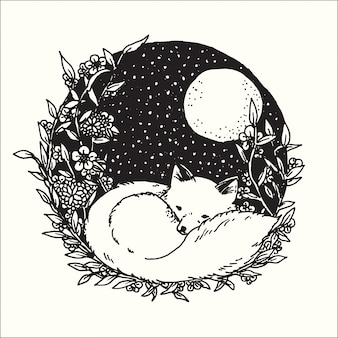 Рисованной иллюстрации doodle абстрактного графического искусства дизайн фантазии коллекции.
