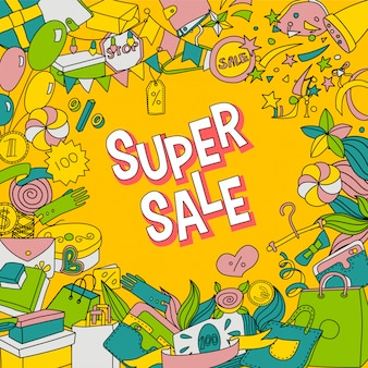 Doodle супер распродажа плакат