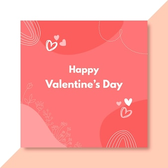 Post di facebook di san valentino scarabocchiato