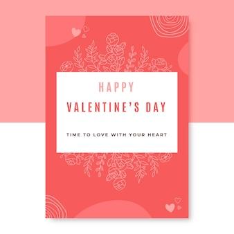 Poster di san valentino scarabocchiato