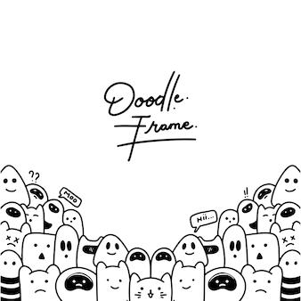 Doodles background frame
