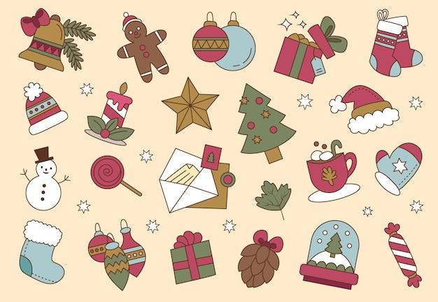 落書きクリスマスカラー