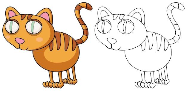 猫のための落書きドラフト動物